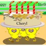 Happy Birthday Cheryl