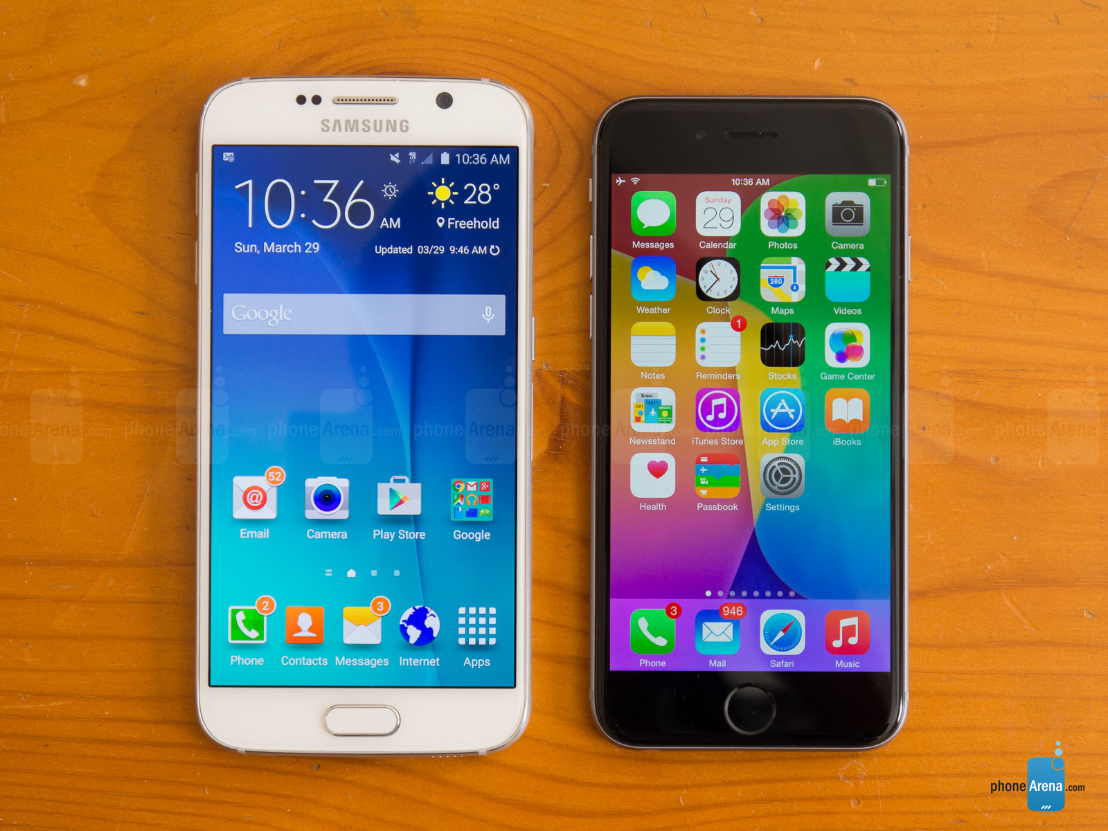 VIDEO: Galaxy S6 si iPhone 6 in apa clocotita