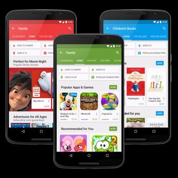 Google Play Store primeste noi caracteristici si devine mai family-friendly