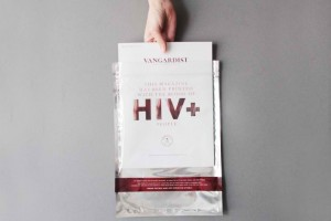 O revista printata folosind substanta hematologica cu HIV