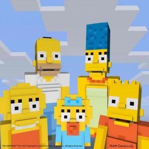Secventa de incepere din The Simpsons a fost recreata in Minecraft