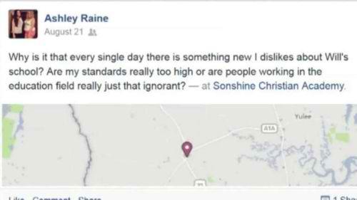 O postare pe Facebook a unei femei a condus la exmatricularea fiului ei