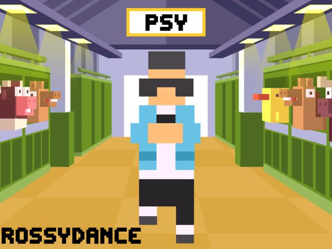 Superstarul sud-coreean PSY va aparea in jocul Crossy Road