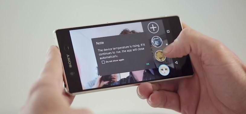 Supraincalzirea lui Xperia Z3+ a fost capturata intr-un clip video