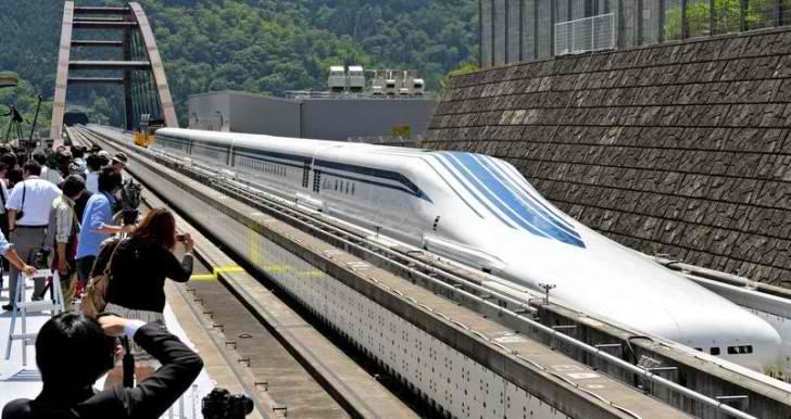 Trenul Maglev din Japonia si-a doborat propriul record