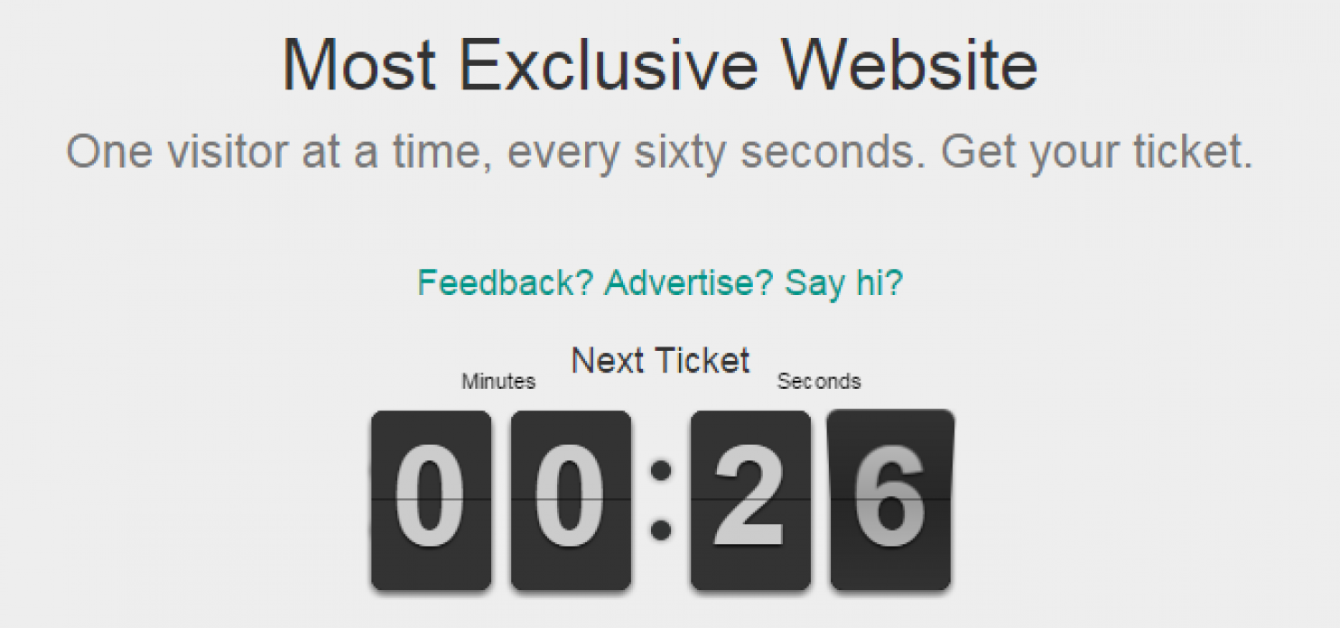 Cel mai exclusiv site din lume ii permite numai unui singur vizitator sa-l viziteze