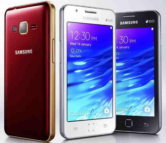Samsung sarbatoreste succesul lui Samsung Z1 printr-o varianta aurie