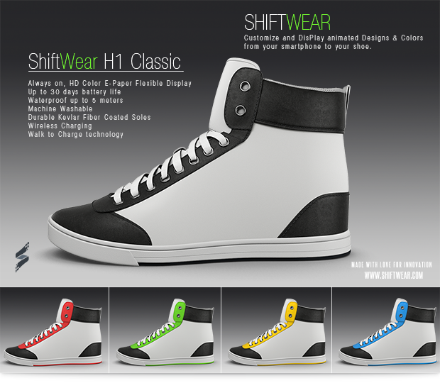 ShiftWear vrea sa monteze displayuri pe adidasii tai