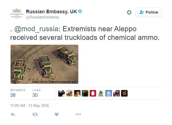 Ambasada Rusiei tweet-uieste imagini din Command & Conquer pentru a-i avertiza pe oameni de terorism