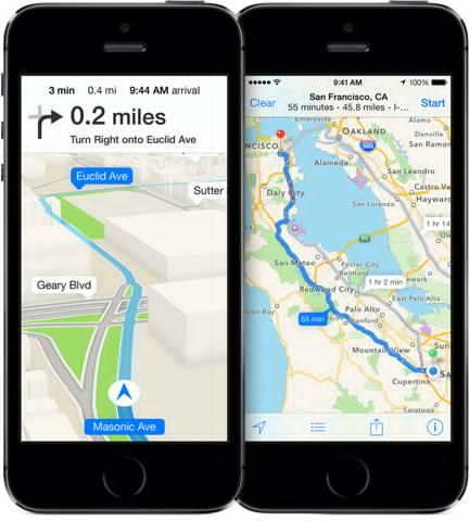 Apple Maps este folosit mai mult decat Google Maps pe iPhone-uri