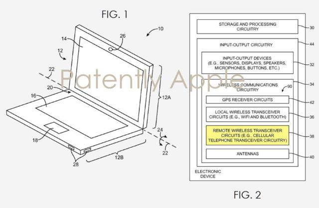 Apple patenteaza un MacBook cu capabilitati celulare