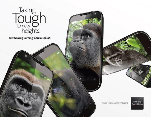 Corning anunta Gorilla Glass 5 - o sticla mai noua si mai rezistenta
