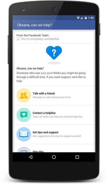 Facebook lanseaza unelte de prevenire a sinuciderilor