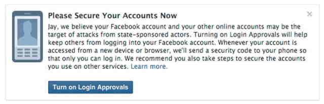 Facebook te va notifica daca contul tau a fost compromis
