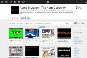 Internet Archive ofera 500 de jocuri Apple II pentru browserul tau