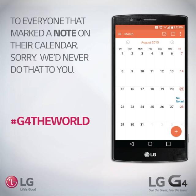LG se distreaza pe seama absentei lui Galaxy Note 5 in Europa