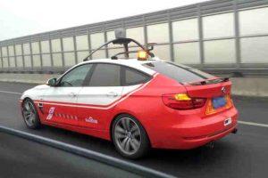 Masina fara sofer a Baidu termina un test complet de condus autonom
