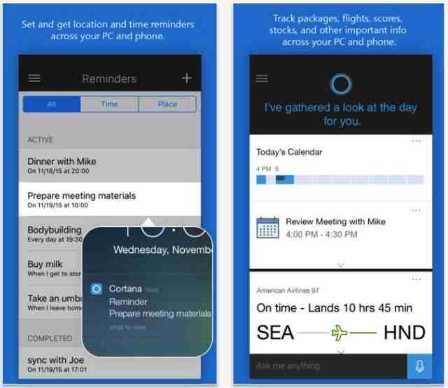 Microsoft a lansat oficial Cortana pentru iOS si Android