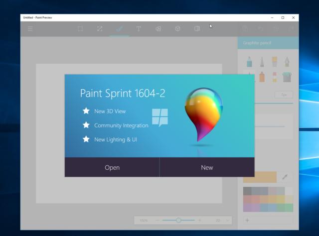 Microsoft ar putea lansa Paint ca si aplicatie pentru Windows 10