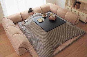 Mobila kotatsu iti mentine locuinta calduroasa