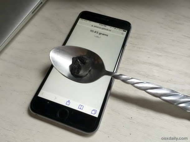 O aplicatie web iti permite sa folosesti iPhone 6s ca si un intrument de cantarire