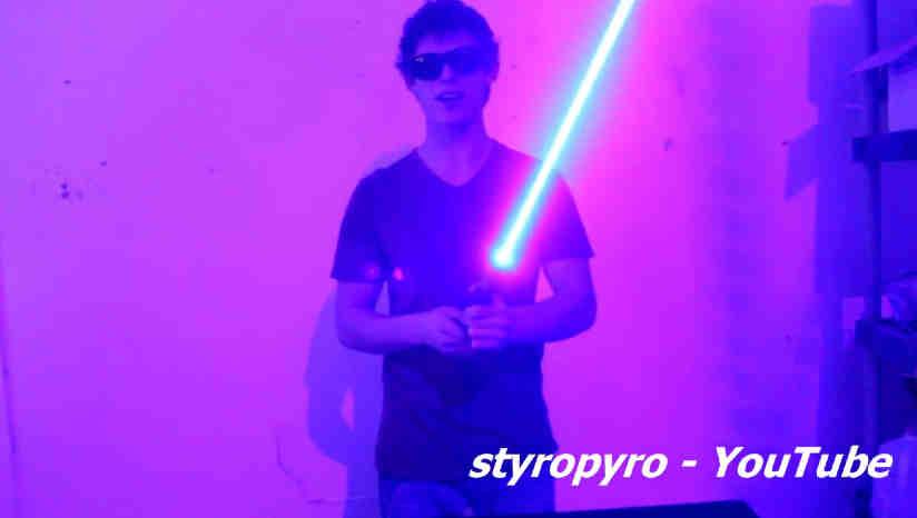 Sabia cu laser de 7W facuta acasa este cu un pas mai aproape de sabia laser din Star Wars