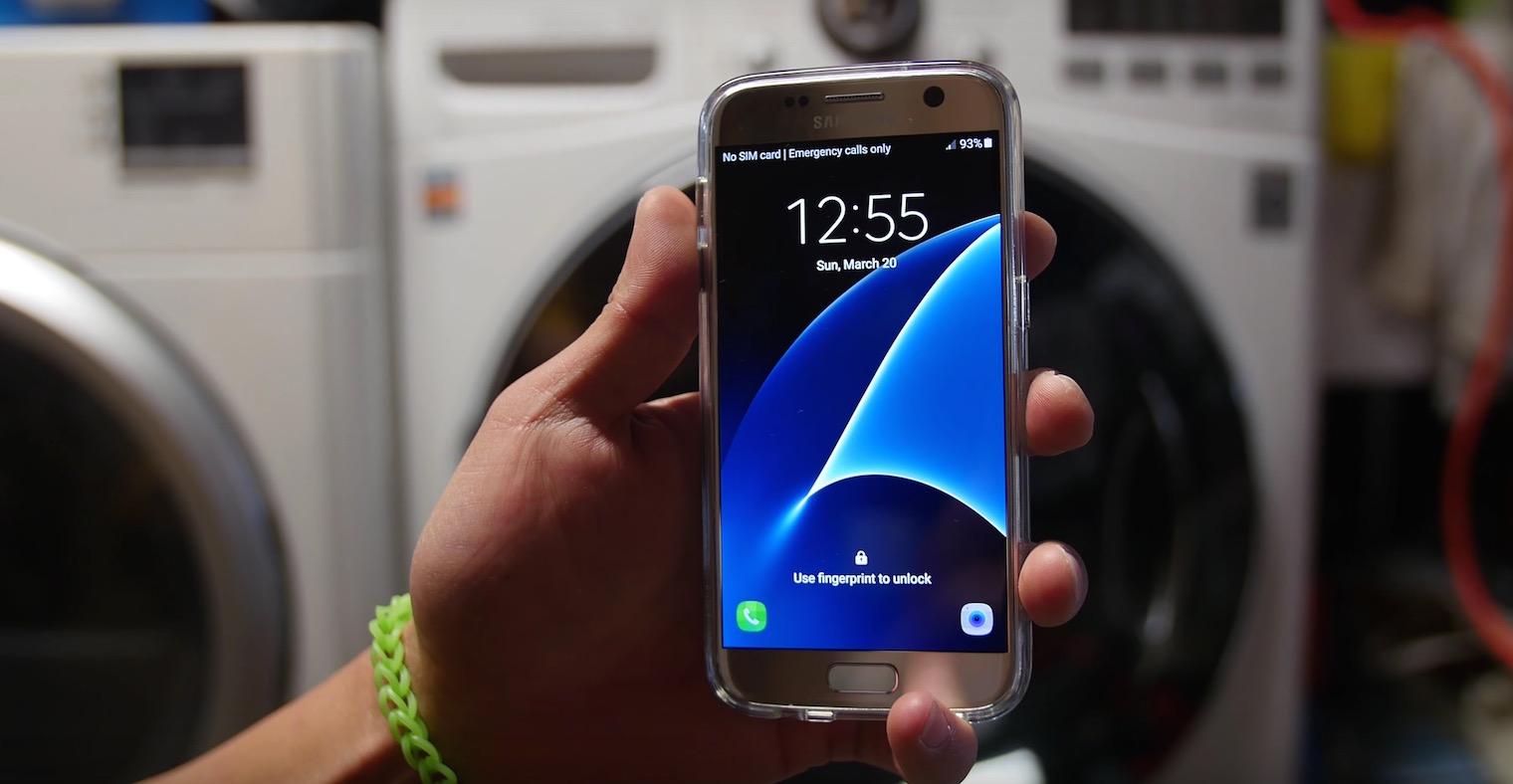 Samsung Galaxy S7 supravietuieste timp de 45 de minute in masina de spalat