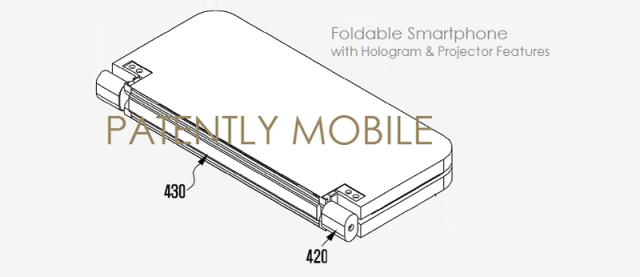 Samsung patenteaza un smartphone pliabil cu proiector integrat