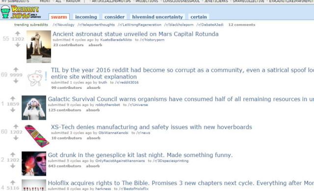 Un barbat si-a petrecut 4 ani creand Reddit pentru anul 3016