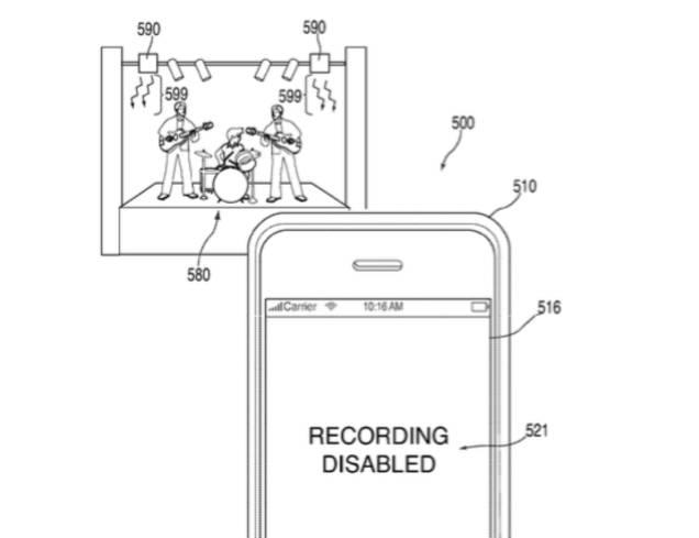 Un patent Apple te-ar putea impiedica sa capturezi poze si filmulete la concerte