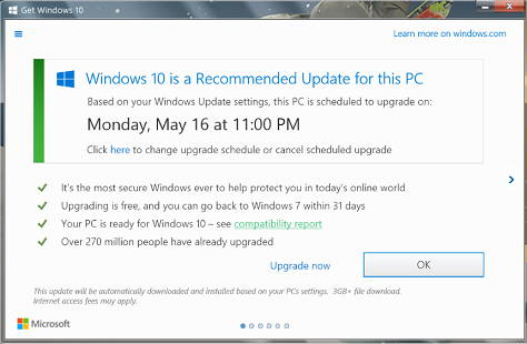 Un truc ii forteaza pe utilizatori sa faca upgrade la Windows 10, chiar daca spun nu
