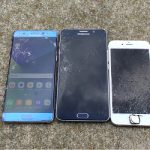 Galaxy Note 7 VS Galaxy Note 5 VS iPhone 6s intr-un drop test