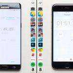 iPhone 6s VS Samsung Galaxy Note 7 intr-un test de viteza