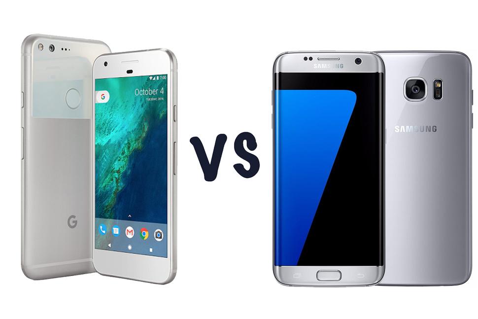 Google Pixel si Samsung Galaxy S7 Edge intr-un test de viteza