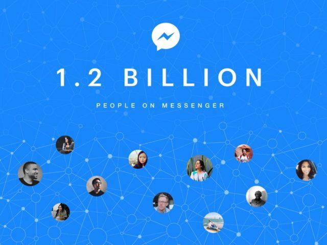 Facebook Messenger are acum 1,2 miliarde de utilizatori