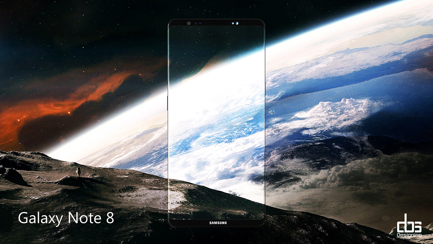 O imagine concept a lui Samsung Galaxy Note 8 arata uluitor