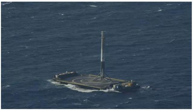 Racheta reutilizata a SpaceX, Falcon 9, a ajuns cu bine pe Pamant