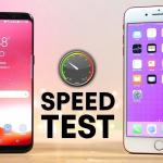 Samsung Galaxy S8 VS iPhone 7 Plus intr-un test de viteza
