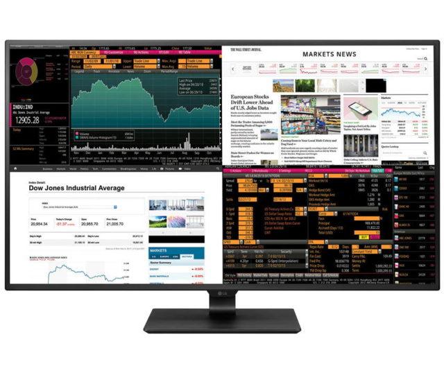 Cel mai nou monitor 4K al LG pune patru displayuri intr-un panou de 42,5 inch