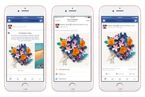 Reactia Facebook cu floarea mov se intoarce de Ziua Mamei