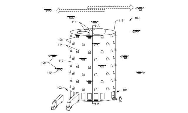 Amazon breveteaza ideea unui stup de drone. La ce ii va folosi