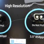 Noul display pentru realitate virtuala al Samsung are de 3,5 ori mai multi pixeli decat Oculus Rift