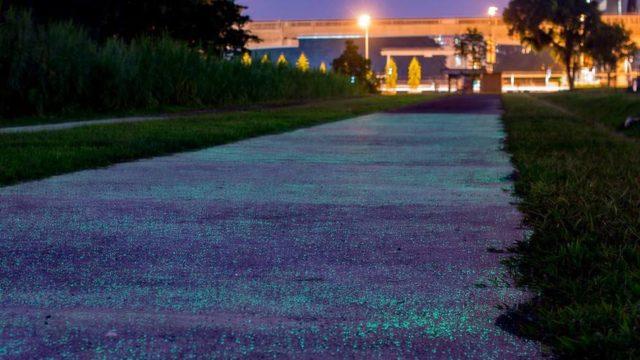 Singapore testeaza un drum care straluceste in intuneric, pentru o mai buna vizibilitate