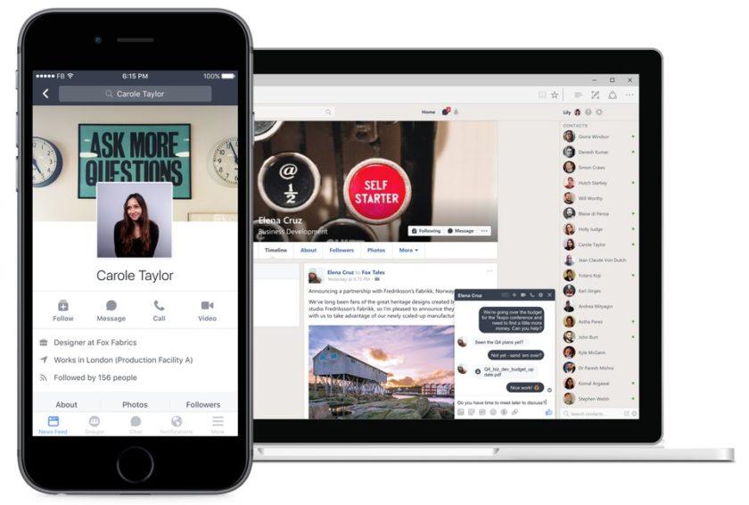 Aplicatia Workplace Chat pentru afaceri a Facebook este acum disponibila