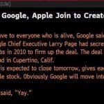 Compania Google a cumparat Apple, potrivit Dow Jones. Cum asa