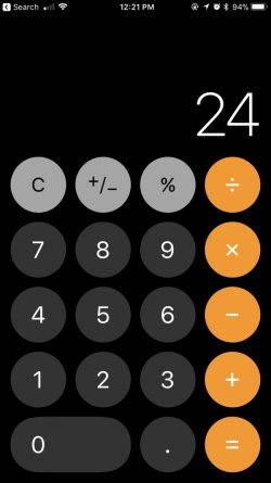 iOS 11 are un bug ciudat de Calculator