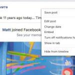 Nu mai poti sterge postarile de pe Facebook, in versiunea web