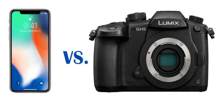 iPhone X VS Panasonic Lumix GH5 - test 4K de captura video
