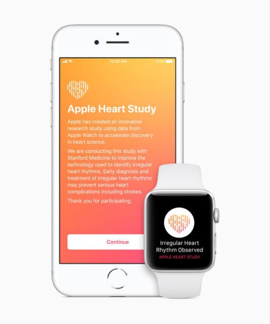 Apple lanseaza un studiu despre ritmul cardiac neregulat
