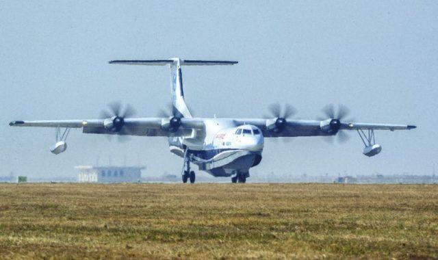 Cea mai mare aeronava amfibiana si-a terminat zborul inaugural